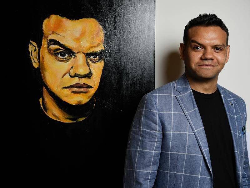 Meyne Wyatt has won the Archibald Packing Room Prize for his self-portrait.